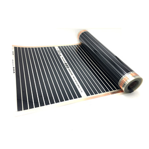 Image 3 - 22M2 PTC Infrared Carbon Heating Foil Mat for Underfloor Tiles Wood Linoleum Laminate Heating with Installation Clips Duab