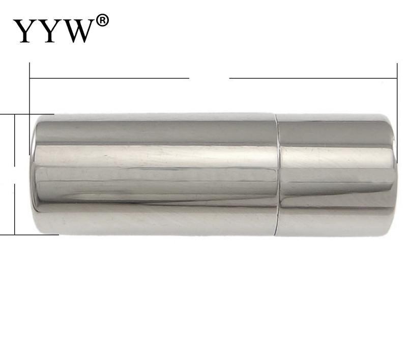 Бесплатная доставка! нержавеющаясталь Магнитная магнетит claspchinese стиль Колонка цилиндра более размеров для выбора oril цвет 50 шт./лот