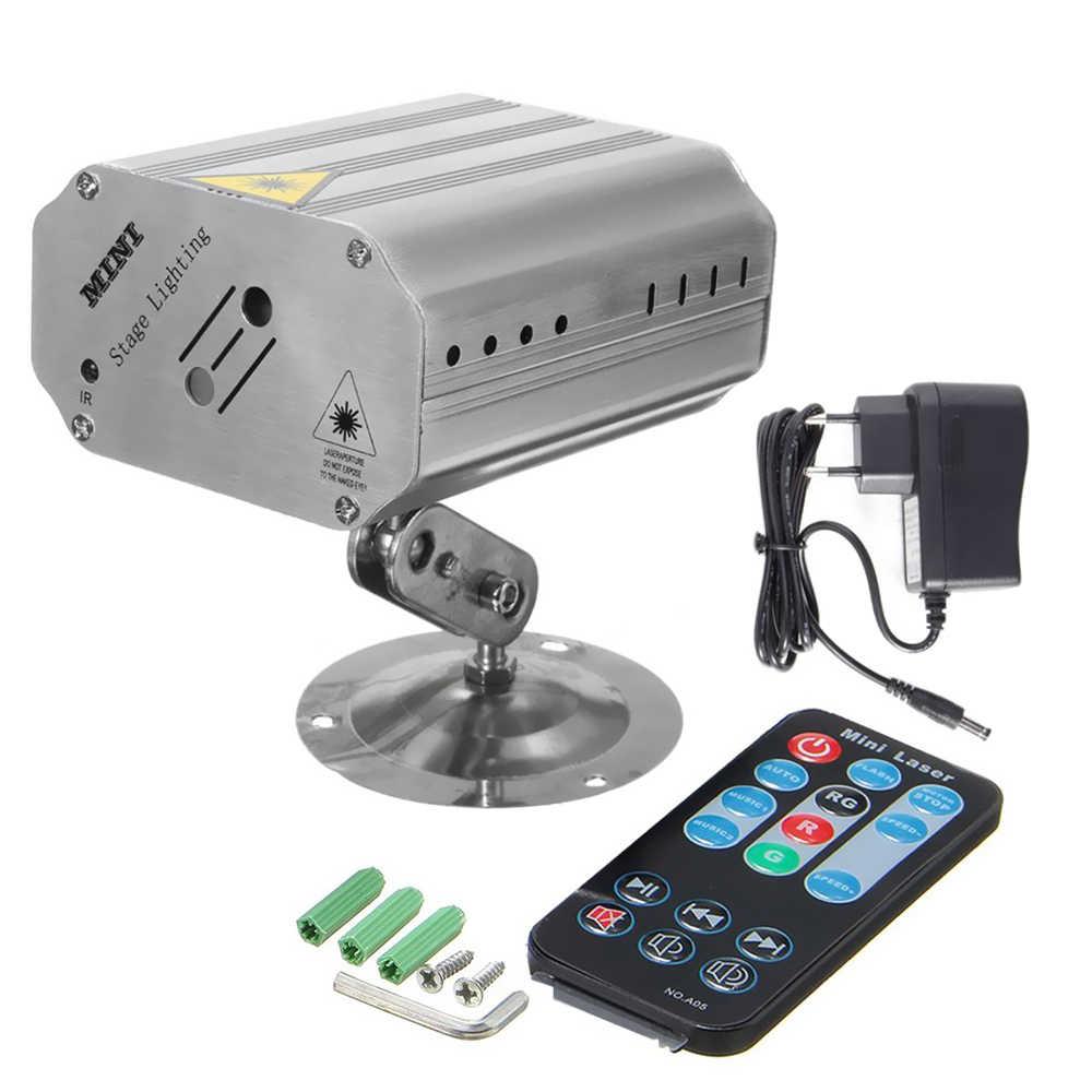 Мини лазерный свет этапа осветительное оборудование 240 В 1,15 Вт поддерживается Auto-run/звуковая активация/удаленного Управление диско DJ Показать КТВ бар