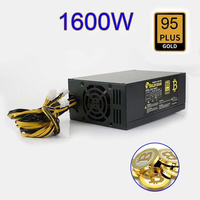 Hot 1600W Bitcoin Mining Machine ATX Power Supply For BTC ETH Antminer S7 S9 D3 R4 New QJY99