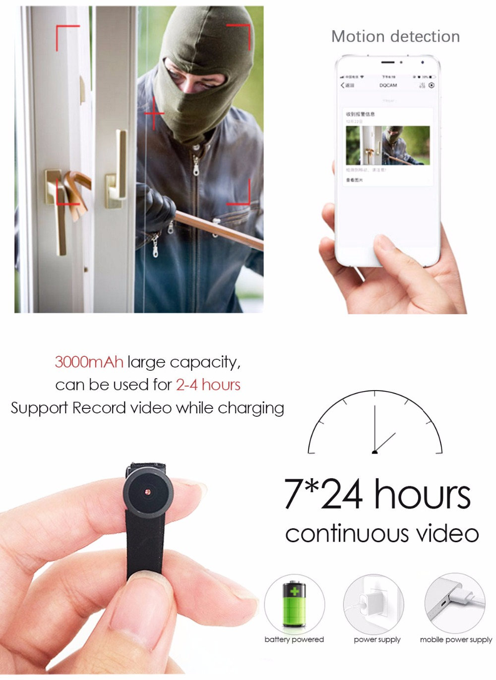 HD 1080P Wide Angle WIFI Mini Camera And Webcam With Motion Activated DV Camcorder 6