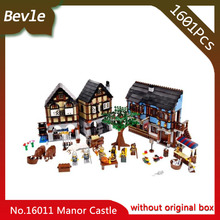 Bevle Store LEPIN 16011 2430pcs Castle Series Medieval Manor Castle Model Building Blocks Bricks Set Toy with Children toys Gift