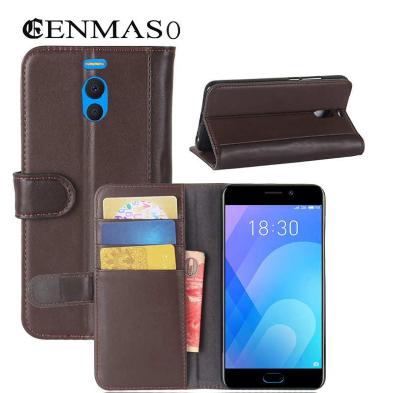 Case For Meizu M6 Note Case Cover TPU Back Cover Genuine Leather Flip Wallet Cases For
