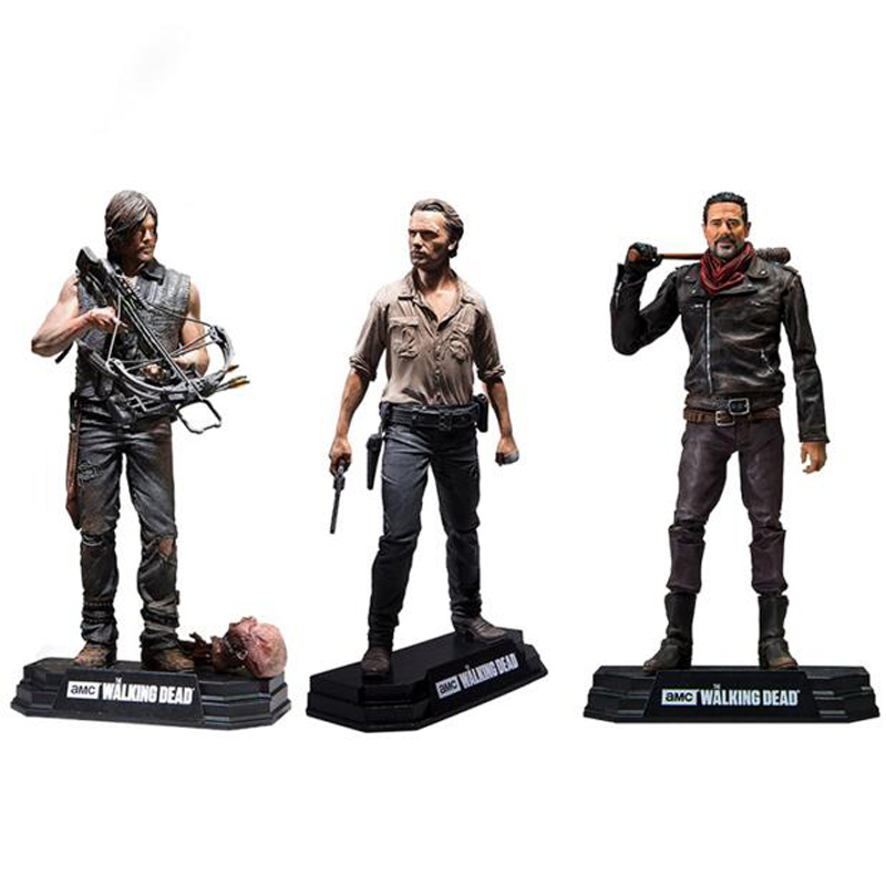 The Walking Dead Action Figure Rick Daryl Negan Collectible Model Toys 17cm