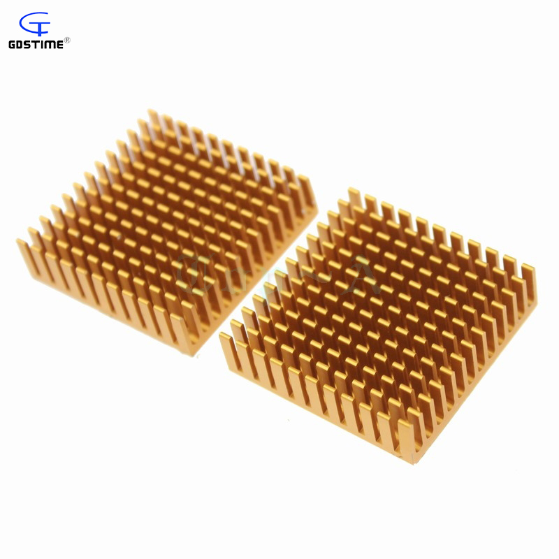 Gdstime 2pcs Heat sink 40*40*11mm Heatsink Aluminum Cooling Fan 40X40X11mm for IC Chip LED 40mm x 11mm