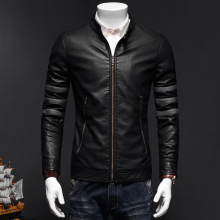 Free Shipping Hot Men High quality New Black PU Leather Jacket Male Business Classic Fashion motorcycle leather jackets M-4XL
