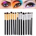 7 unids Pro Maquillaje de Ojos Delineador de ojos Sombra de Ojos Cepillo de Pelo de Caballo Cepillo de Cejas Cepillos Kit de Cosméticos de Ojos Pinceles de Maquillaje Herramientas