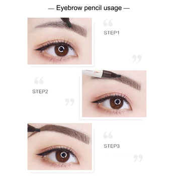 1 Pcs Eyebrow Pen Eyeliner 2 in 1 Waterproof Long Lasting Makeup Cosmetics Beauty KG66