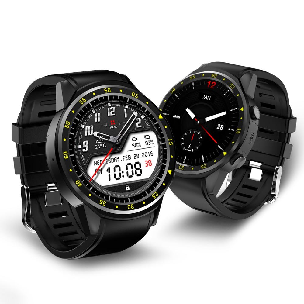 F1 sport Smartwatch téléphone MTK2503 double Bluetooth GPS Beidou moniteur de sommeil de fréquence cardiaque montre intelligente pour Android IOS téléphone PK X100-in Montres connectées from Electronique    1