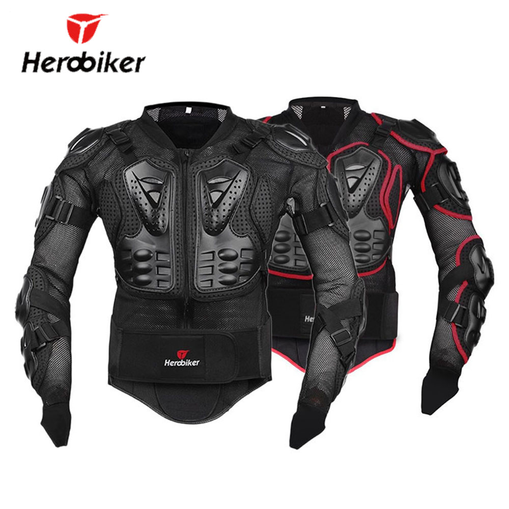 HEROBIKER Motorcycle Jacket Full Body Armor Professional Motocross Off-Road Protector Protective Gear Clothing S/M/L/XL/XXL/XXXL adjustable pro safety equestrian horse riding vest eva padded body protector s m l xl xxl for men kids women camping hiking