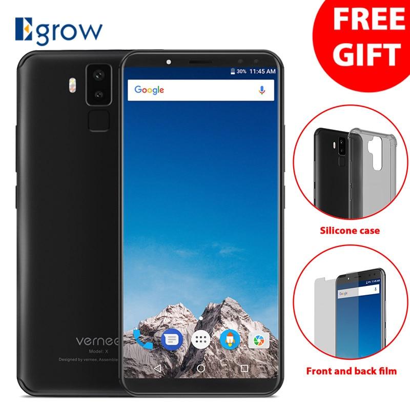 Vernee X 6,0 zoll 6200 mah 18:9 FHD Smartphone 4g LTE Handy Gesicht ID 4 gb RAM 64 gb ROM MTK6763 Octa Core 16,0 MP Handy
