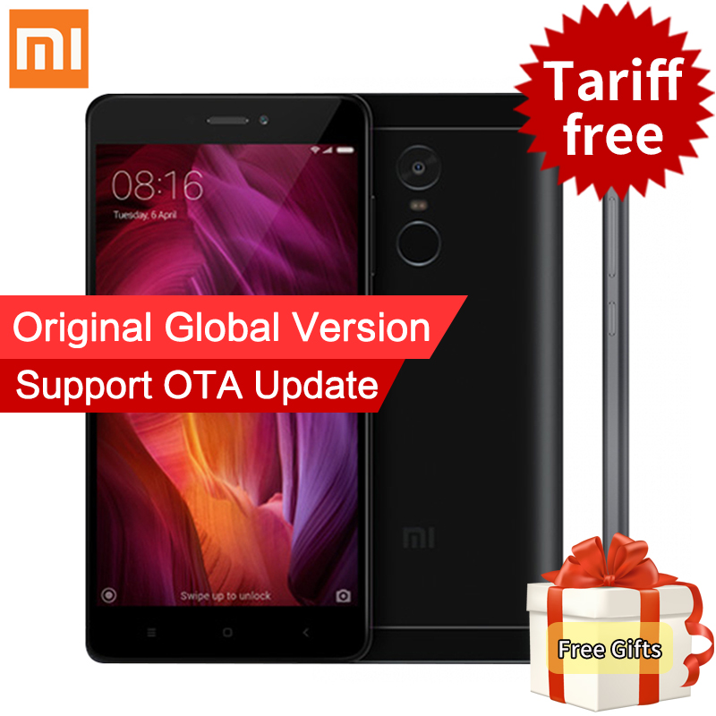 Global Version Xiaomi Redmi Note 4 Qualcomm 3GB 32GB Mobile Phone Snapdragon 625 Octa Core 13MP