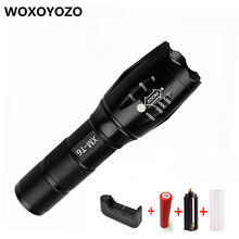 4000 Lumens Zoomable LED Flashlight Torch Waterproof Zoom CREE LB XL T6 LED Flash Light 18650