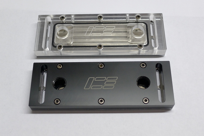 IceMan Cooler Memory Water Head, RAM waterblock Dual Channels Acrylic & POM version Optional