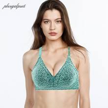 c7c4667af5 Plusgalpret Women Everyday Underwear Plus Size Bra Wire Free Bralette Push  Up Brasier Mujer Full Cup