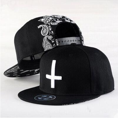 2015 Նոր Նորաձևություն Տղամարդիկ Կանանց խաչ տպագրություն Ժամանցի բեյսբոլի գլխարկ Hip Hop Cap Flat երկայնքով Snapback Cap Skateboard Cap bone