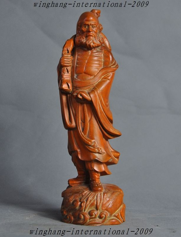 christmas Old Chinese Boxwood Pure Hand-Carved Arhat Damo Bodhidharma Dharma Buddha Statue halloweenchristmas Old Chinese Boxwood Pure Hand-Carved Arhat Damo Bodhidharma Dharma Buddha Statue halloween