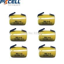20 sztuk NICD SubC SC 4/5sc akumulator niklowo kadmowy 1.2V 1.2Ah płasko zakończony zakładkami do magnetofonów dzieci zabawki zegary kwarcowe