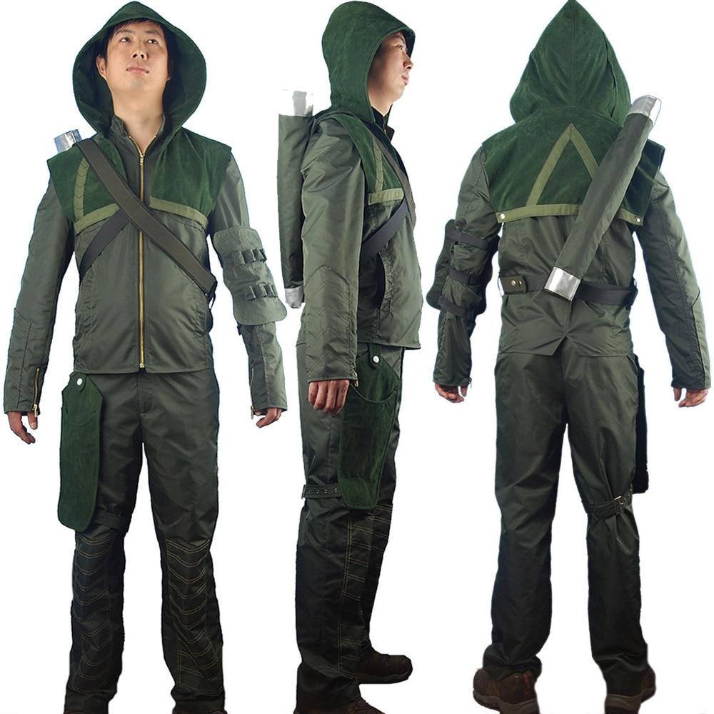 Green Arrow Oliver Queen Hoodie Jacket Halloween Cosplay Costume Connor Hawke Christmas Gift