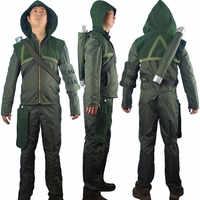 Unisex Green Arrow Oliver Queen Hoodie Jacket Halloween Cosplay Costume Connor Hawke Christmas Gift