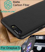 Nillkin Synthetic углеродного волокна Чехол для OnePlus 5 ультра тонкий ПК Shell матовый