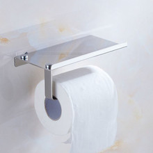 Wall Mounted Toilet Paper Holder Tissue Paper Holder Toilet Roll Dispenser With Phone Storage Shelf For Bathroom Accessory #BL4 xueqin gold bathroom hotel paper holder retro copper wall mounted roll tissue storage shelf towels phone book holders