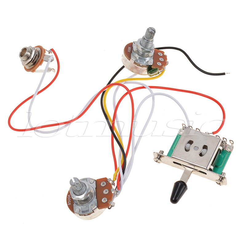 Kmise 3 Pickup Guitar Wiring Harness Prewired with 5 Way Switch Volume Tone 500k Pots Pack aliexpress com buy kmise 3 pickup guitar wiring harness prewired EZ Wiring Harness Diagram Chevy at edmiracle.co