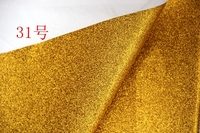 Golden Synthetic PVC Glitter Leather Vinyl Fabric Material