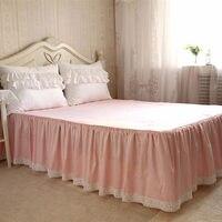 European garden style bed skirt romantic flower lace bedspread elegant bedspreads bed sheet decorative princess bedspreads sale