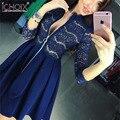 2017 Новый дизайн элегантный кружева Молнии Bodycon dress Весна оболочка сексуальная Бальное платье платья Элегантный bodycon dress vestidos