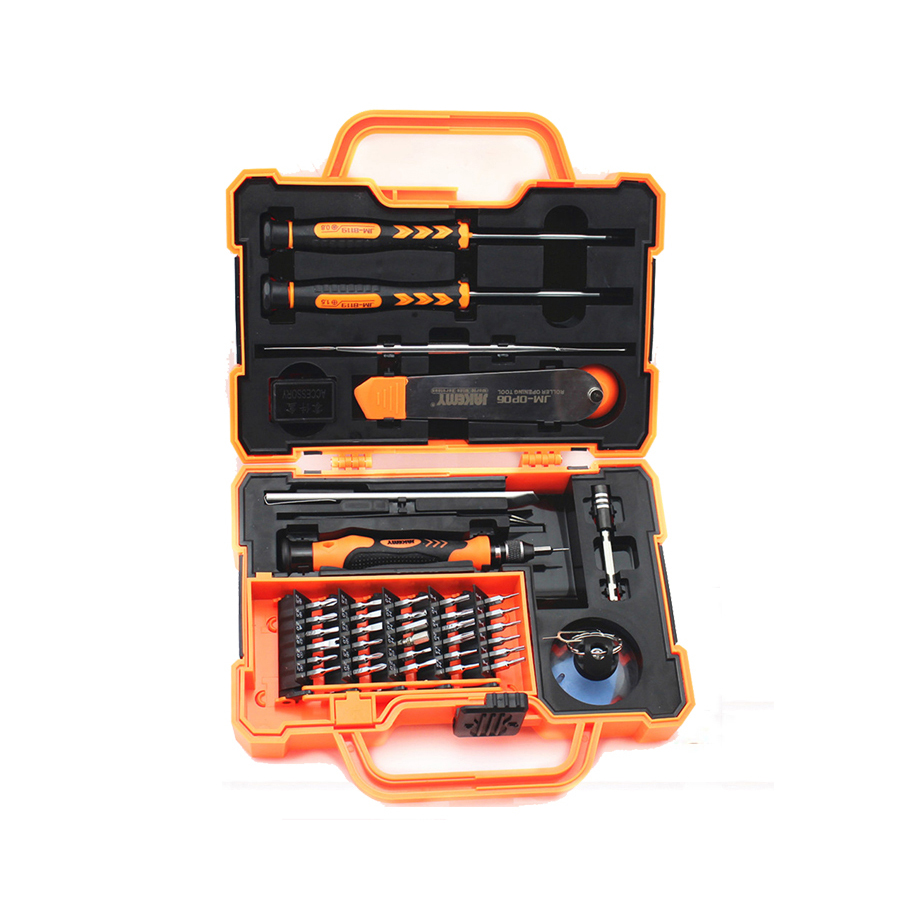 JAKEMY 45 in 1 JM-8139 Electronic mobile repair phone tool kit Anti-drop Precision Screwdriver Hardware for iphone android phone  цены