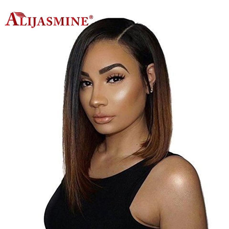 1b 4 Ombre Bob Lace Front Human Hair Wigs Side Part Bob Lace Front Wig Remy