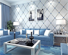 beibehang Geometric green non-woven bedroom living room background wallpaper papel de parede papier peint hudas beauty behang
