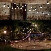 5m/10m Led globe bulb adjustable tail Waterproof Ball Garland Vintage led string lights for Christmas outdoor lighting CA41