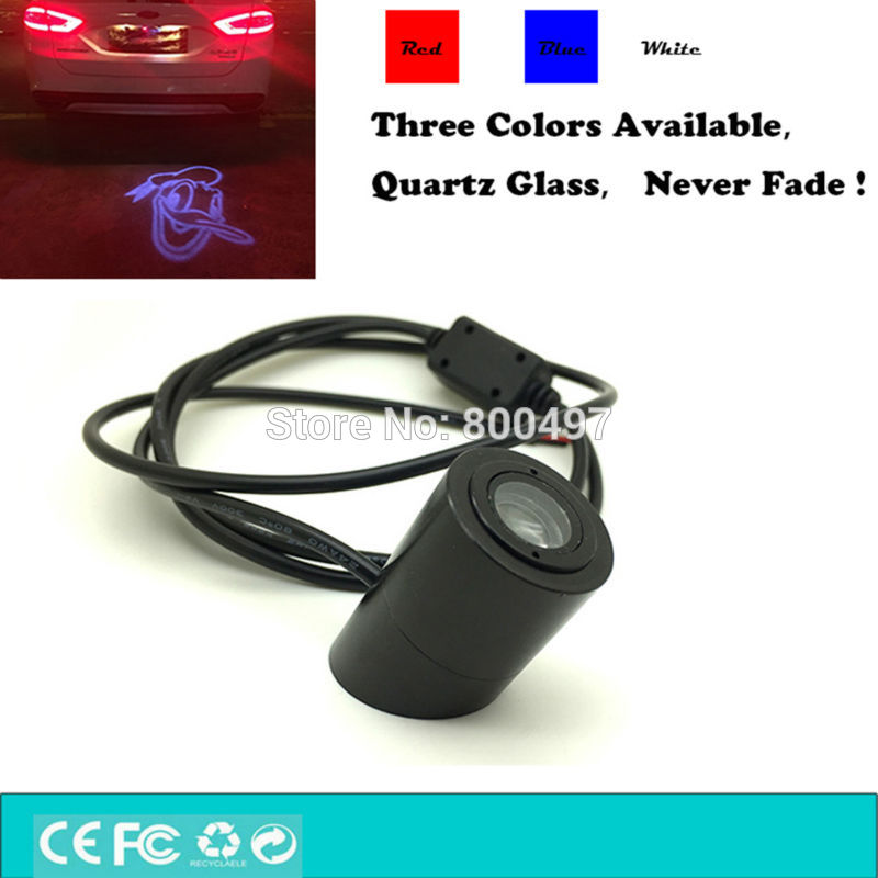 Newest Auto Car LED Tail Logo Light Donald Duck Fog Light Rear Anti-Collision Driving Safety Signal Warning Lamp