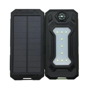 Image 4 - Colaier Solar Power Bank Dual USB 20000mAh Waterproof PowerBank Bateria External Portable Solar Panel with LED Burgundy
