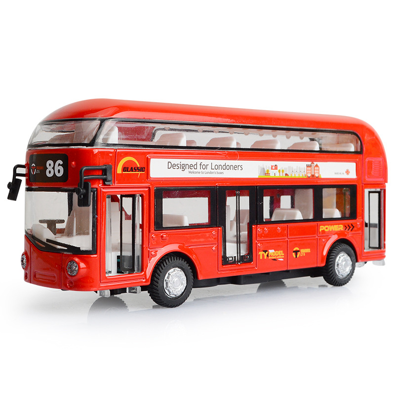 Double Decker Bus Toy Party Metal & Plastic London Bus Transport The Doors Can Open&Close FLashing With Music When Press Head london bus board book