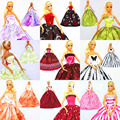 Lots 20 Dresses / Top Quality Gorgeous Handmade Gown Clothing Outfit Princess Skirt For 1/6 Barbie Kurhn Doll Different Styles