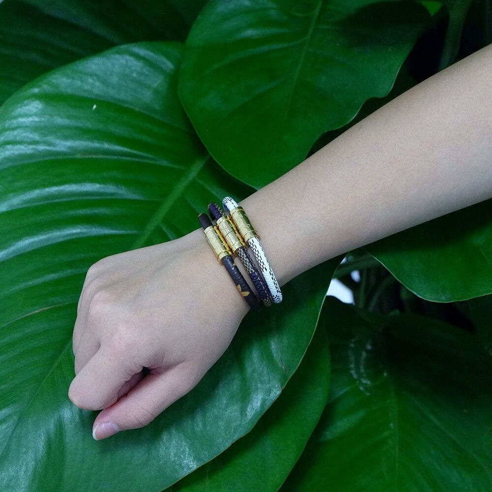 women bracelets bracelet men (1)  VEROMCA Leather-based Bracelet Stainless Metal Bracelets Males Jewellery Excessive High quality Charms Bracelets jewellery Magnetic Bracelet HTB1omRKG1uSBuNjy1Xcq6AYjFXaf