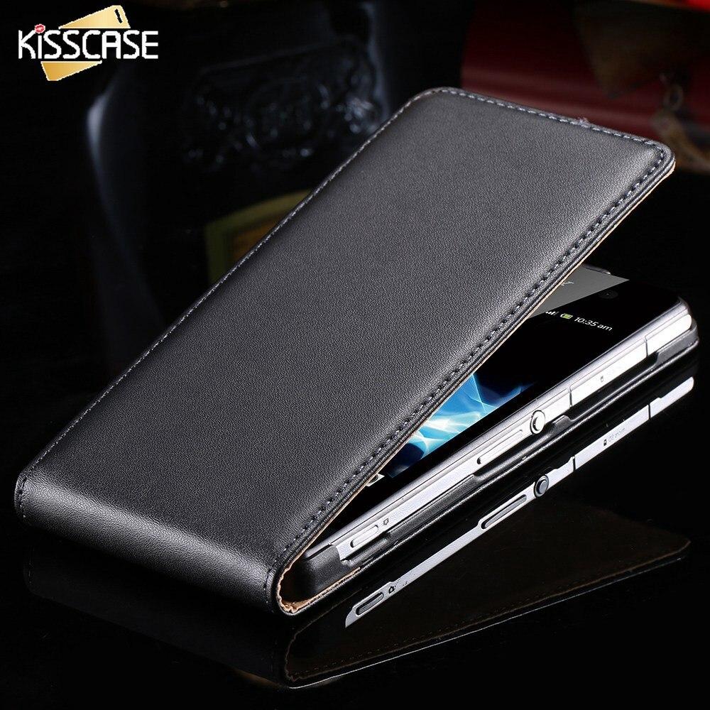 KISSCASE D'affaires de Luxe PU Étui En Cuir Pour Sony Z2 Z3 Z4 plein De Protection Magnétique Mobile Téléphone Cas Pour Sony Xperia Z3 Z2 Z4