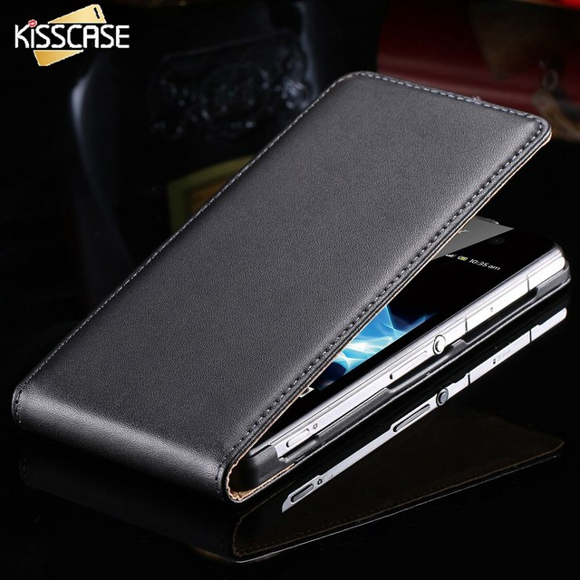 KISSCASE Luxury Business PU Leather Case For Sony Z2 Z3 Z4 Full Protective Magnetic Mobile Phone Cases For Sony Xperia Z3 Z2 Z4
