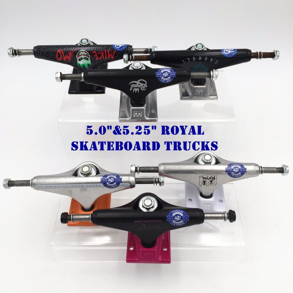 2PCS Original USA Royal MIKE MO Skateboard Trucks 5.25 5.0 Aluminum Alloy Truck Skate Board Outdoor Skateboarding Accessories
