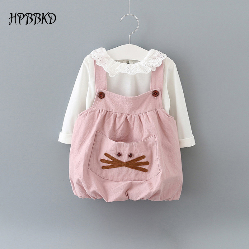 New 2016 summer baby girl clothing Sets fashion Cotton sleeveless T-shirt and pants girls clothes sport suits GD-444 baby set