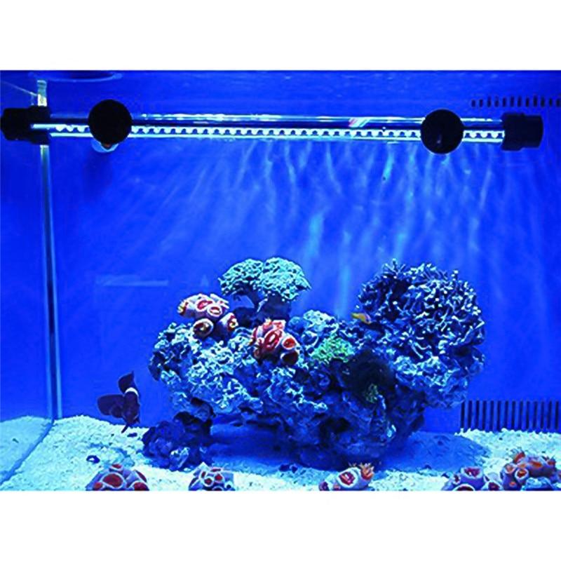 Fish Tank Spot <font><b>Light</b></font> F5 Chip White Blue <font><b>Light</b></font> <font><b>led</b></font> aquarium <font><b>light</b></font> 48cm 57 <font><b>LED</b></font> 4W Submersible Waterproof Fish Lamp EU US UK plug