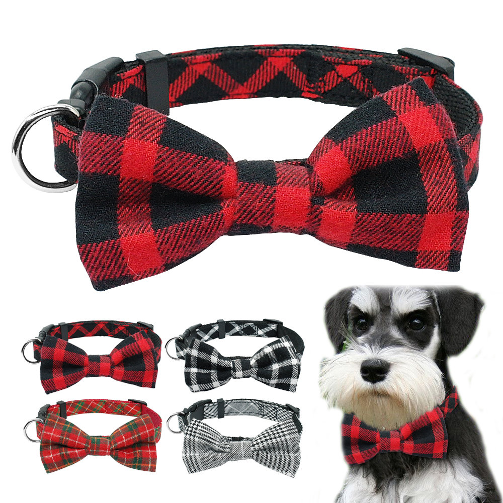 Fashion Bowtie Puppy Dog Collar Gentleman Bowknot Kitten Cat Collars Adjustable For Small Medium Cats Dogs Chiahuahua