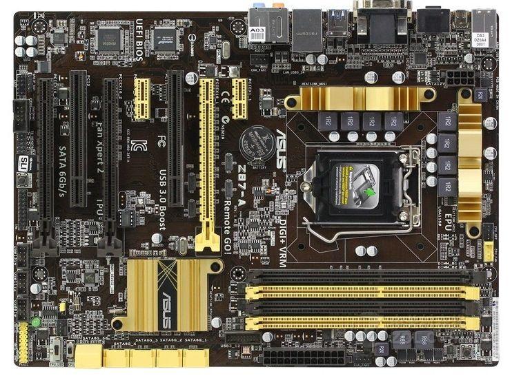 Used,for Asus Z87 A Original Motherboard Z87 Socket LGA 1150 i7 i5 i3 DDR3 32G SATA3 USB3.0 ATX