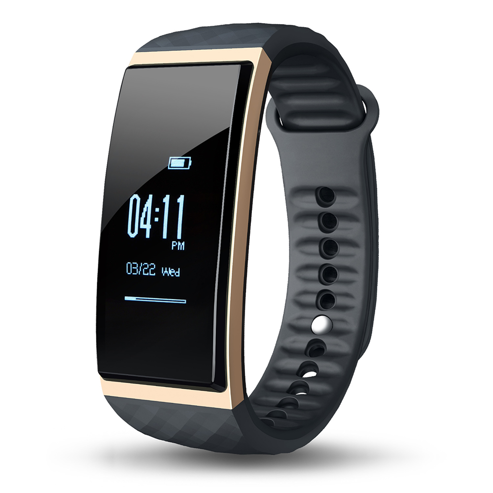 New S1 Sports Smartband Bluetooth 4.0 Heart Rate Remote Camera Sleep Monitor Sedentary Reminder IP65 Waterproof Grade
