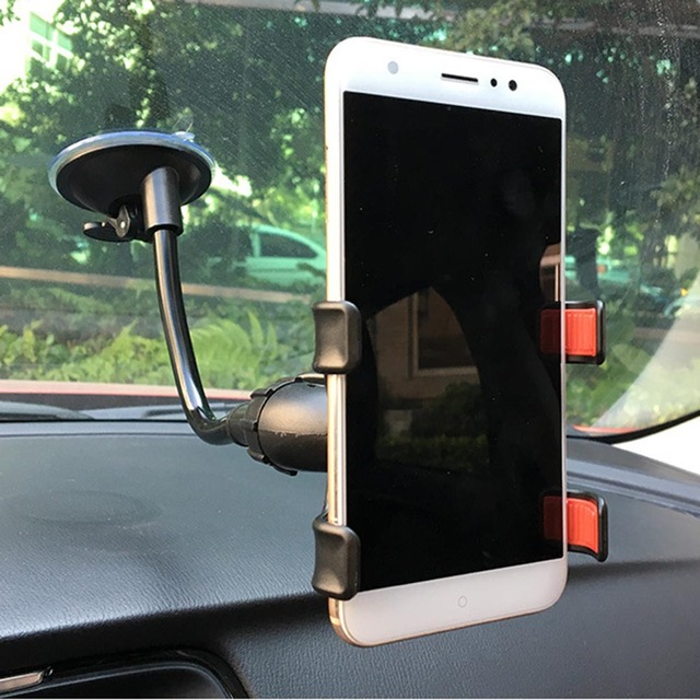 Car Phone Holder Sucker Mount Bracket Stand 360 Degree Rotation Long Arm Windshield With Suction Cup For iPhone Samsung Huawei