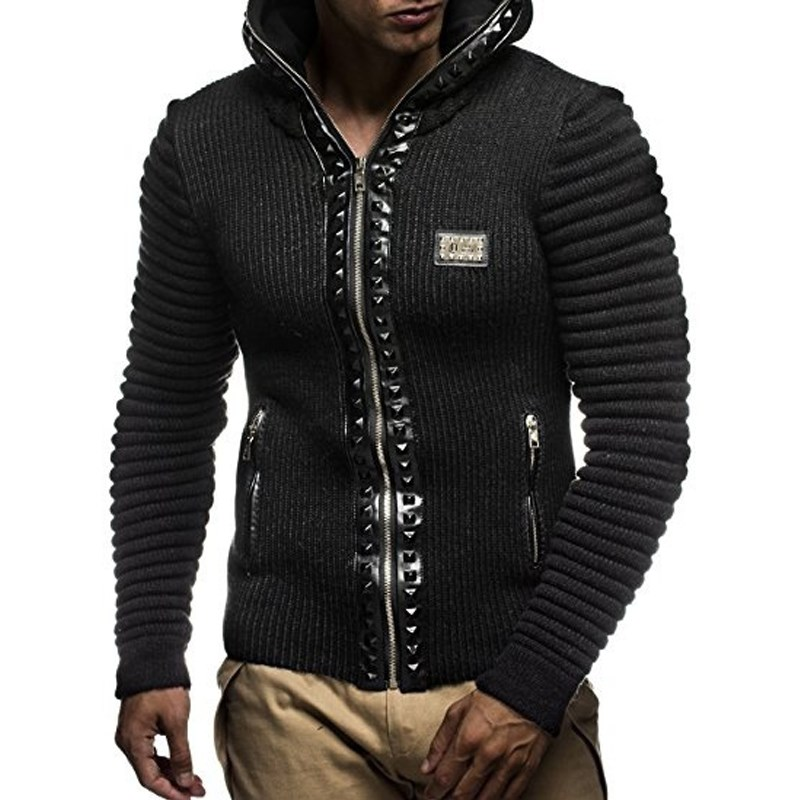 2018 Hoodies Men Sudaderas Mens Brand Leisure Zipper Jacket Autumn Winter Casual Hoodie Sweatshirt Slim Fit Men Hoody Coats