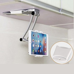Wall Desk Tablet Stands Kitchen Tablet Mount Stand Phone Holder Fit For 5-10.5 inch Width Tablet Metal Bracket Notebook Holders